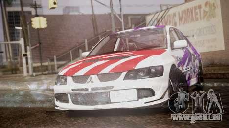 Mitsubishi Lancer Evolution VIII Yatogami Itasha für GTA San Andreas