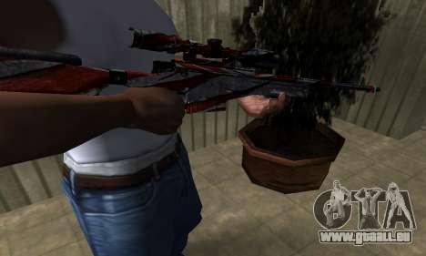 Red Flag Sniper Rifle pour GTA San Andreas deuxième écran