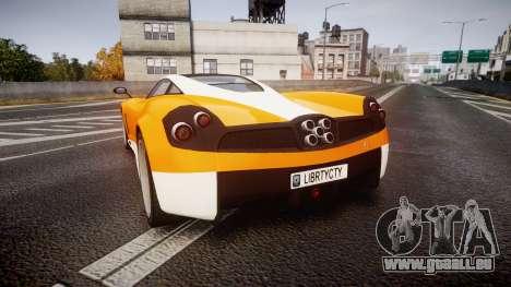 GTA V Pegassi Osiris pour GTA 4 Vue arrière de la gauche