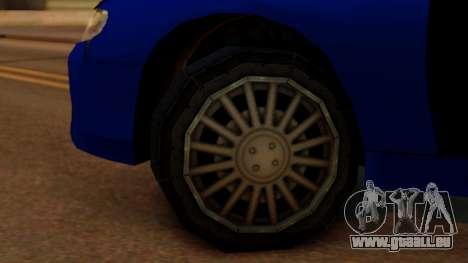 Police HSV VT GTS SA Style pour GTA San Andreas sur la vue arrière gauche