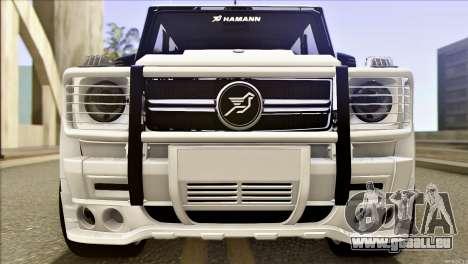 Mercedes-Benz G65 Hamann 2013 pour GTA San Andreas laissé vue