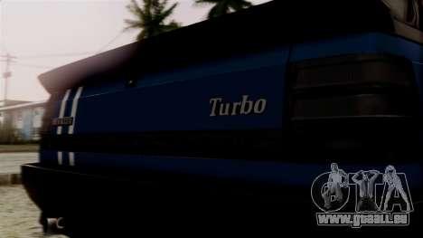 Renault 11 Turbo pour GTA San Andreas vue arrière