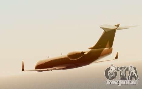 Buckingham Starjet v1.0 pour GTA San Andreas sur la vue arrière gauche