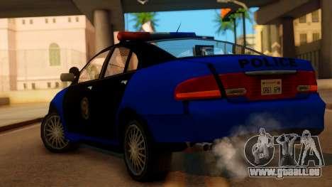 Police HSV VT GTS SA Style pour GTA San Andreas laissé vue