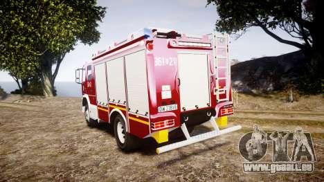 Mercedes-Benz Atego 1530 Firetruck [ELS] pour GTA 4 Vue arrière de la gauche
