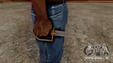 GTA 5 Antique Cavalry Dagger v1 für GTA San Andreas dritten Screenshot