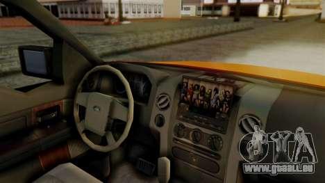 Ford F-150 Sport pour GTA San Andreas sur la vue arrière gauche