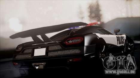 NFS Rivals Koenigsegg Agera R pour GTA San Andreas laissé vue