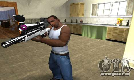 Bitten Sniper Rifle pour GTA San Andreas deuxième écran