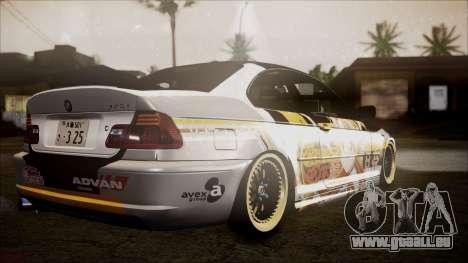 BMW 325t E46 LCI SAO Itasha pour GTA San Andreas laissé vue