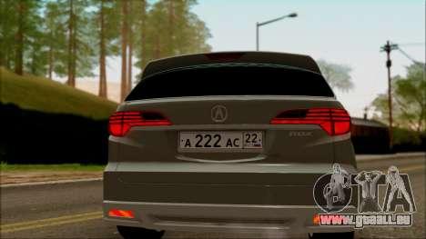 Acura RDX 2009 pour GTA San Andreas vue de droite