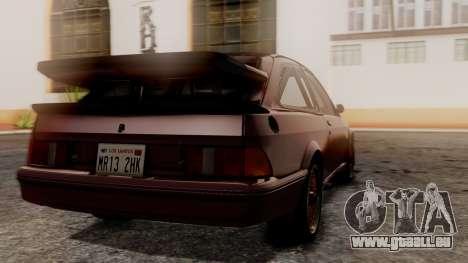 Ford Sierra RS500A pour GTA San Andreas laissé vue