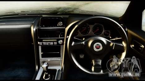 Nissan Skyline GT-R (BNR34) Tuned für GTA San Andreas rechten Ansicht