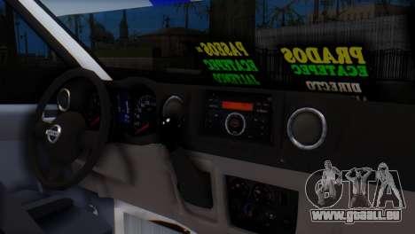 Nissan Urvan NV350 pour GTA San Andreas vue de droite