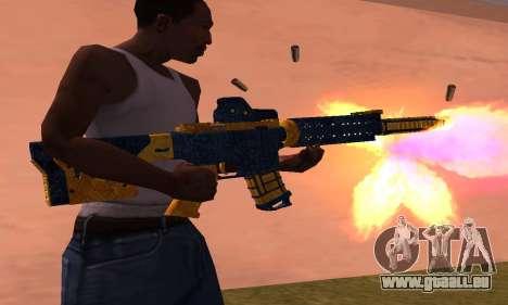 M4 BlueYellow für GTA San Andreas zweiten Screenshot