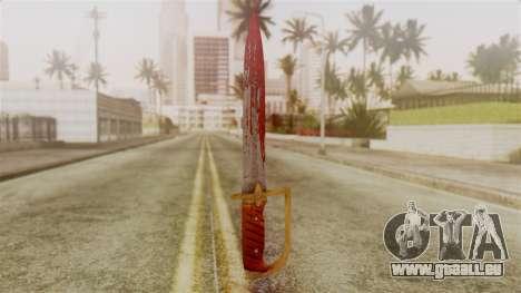 GTA 5 Antique Cavalry Dagger v2 pour GTA San Andreas deuxième écran
