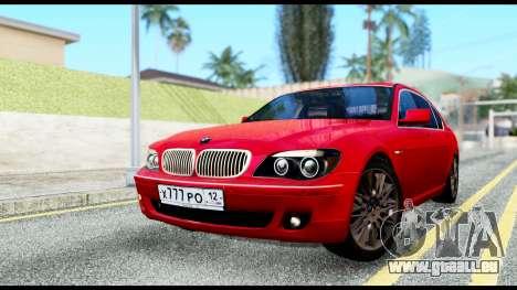 BMW 760Li E66 pour GTA San Andreas