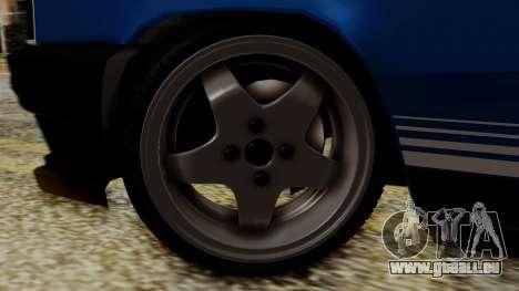 Renault 11 Turbo pour GTA San Andreas sur la vue arrière gauche