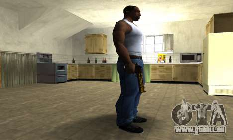 Yellow Jungle Deagle für GTA San Andreas zweiten Screenshot