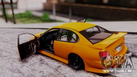 Toyota Aristo für GTA San Andreas Rückansicht