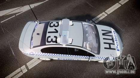 Ford Falcon FG XR6 Turbo Police [ELS] pour GTA 4 est un droit