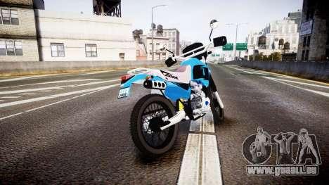 Honda XR 200 für GTA 4 hinten links Ansicht