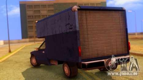 Premier Truck pour GTA San Andreas laissé vue