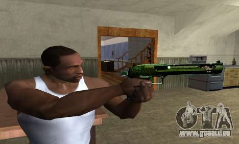 Green Clayn Deagle pour GTA San Andreas troisième écran