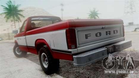 Ford F-150 Ranger 1984 pour GTA San Andreas vue arrière