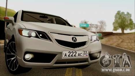Acura RDX 2009 pour GTA San Andreas sur la vue arrière gauche