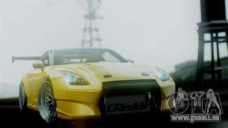 Nissan GT-R R35 Bensopra 2013 pour GTA San Andreas vue intérieure