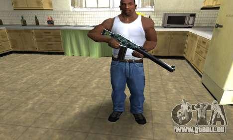 Blue M4 pour GTA San Andreas troisième écran