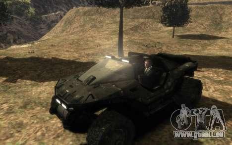 Conseil de sécurité M12 warthog de Halo Reach pour GTA 4 Vue arrière de la gauche