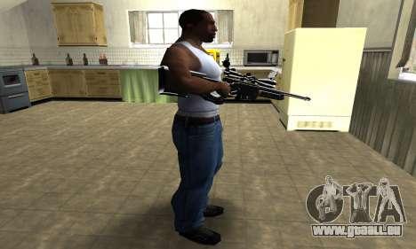 Full Black Sniper Rifle für GTA San Andreas dritten Screenshot