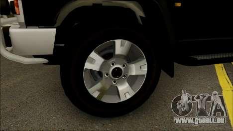 Nissan Patrol Y60 pour GTA San Andreas vue arrière