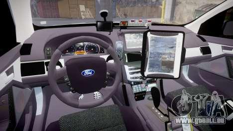 Ford Falcon FG XR6 Turbo Police [ELS] pour GTA 4 Vue arrière