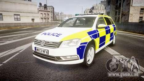 Volkswagen Passat B7 North West Police [ELS] pour GTA 4