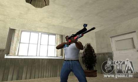 Red Shark Sniper Rifle pour GTA San Andreas troisième écran