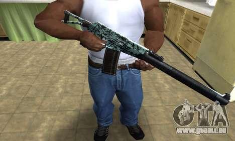 Blue M4 pour GTA San Andreas