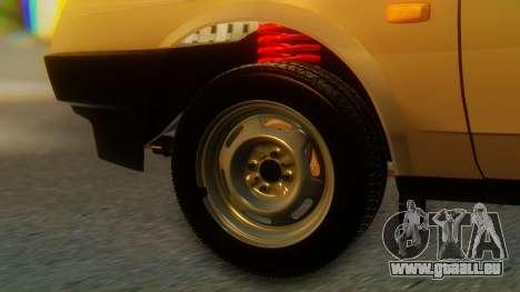 VAZ 21099 Stoke pour GTA San Andreas sur la vue arrière gauche