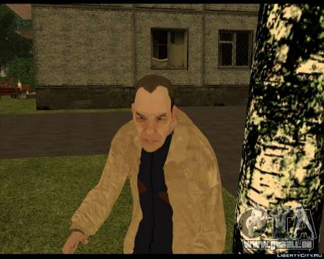 Sans-Abri Compote pour GTA San Andreas troisième écran