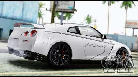 Nissan GT-R R35 2012 pour GTA San Andreas laissé vue