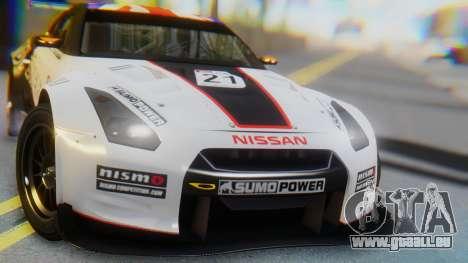 Nissan GT-R GT1 Sumo für GTA San Andreas Innenansicht