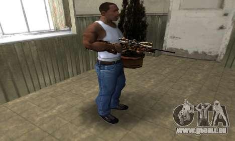 Leopard Sniper Rifle pour GTA San Andreas troisième écran