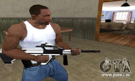 Chrome AUG für GTA San Andreas zweiten Screenshot
