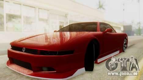 Infernus BMW Revolution with Plate für GTA San Andreas zurück linke Ansicht