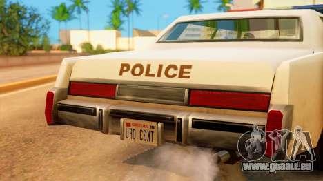 4-door Police Esperanto pour GTA San Andreas vue de droite
