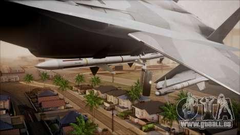 F-15S MTD Grabacr (8492nd) Ace Combat 5 pour GTA San Andreas vue de droite
