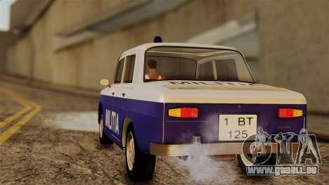 Dacia 1100 Militia pour GTA San Andreas laissé vue