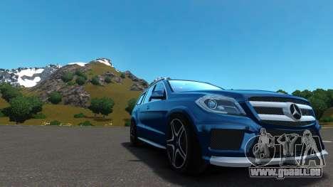 Mercedes-Benz GL 63 AMG pour GTA 4 est une vue de l'intérieur